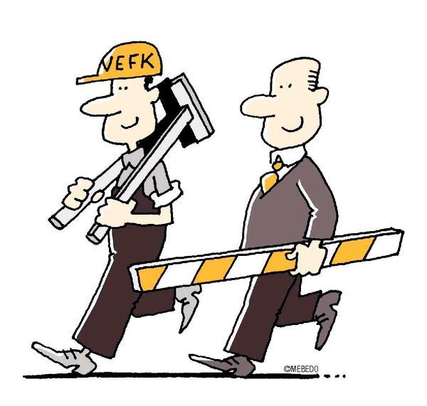 Nur gemeinsam stemmen der Unternehmer und die Verantwortliche Elektrofachkraft schwierige Situationen sicher.