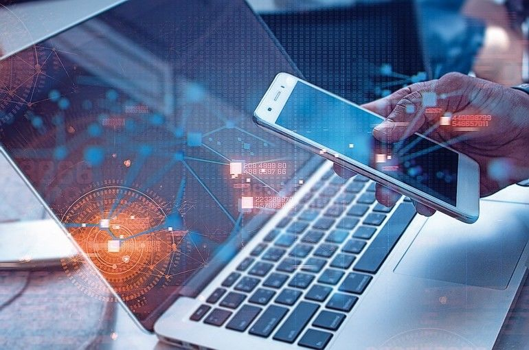 business_man_with_smartphone_mobile_and_laptop_notebook_computer_in_network_social_digital_online_connect_to_data_concept