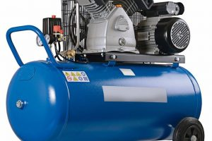 New_air_compressor_on_a_white_background.