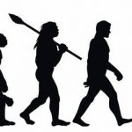 Silhouette_of_theory_of_evolution_of_man._Human_development_from_monkey_to_caveman,_modern_businessmen_talking_on_mobile_phone,_programmer_sitting_at_computer._Hand_drawn_sketch_vector_illustration
