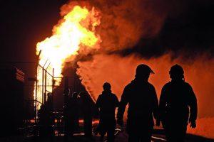 Explosionen können auch von Wasser zum Kühlen und von Stickstoff zum Inertisieren ausgehen.