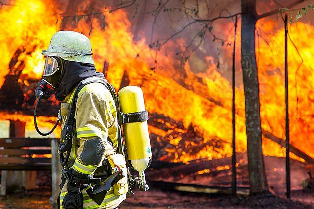 Einsatz bei Hausbrand