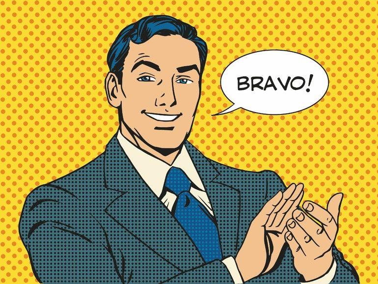 man_applause_Bravo_concept_of_success_retro_style_pop_art
