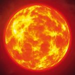 The_burning_sun_in_space_among_the_stars