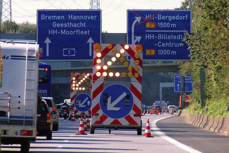 Autobahn, Baustelle
